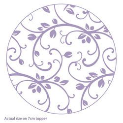 Purple Cupcakes Rolling Pin - Vintage Vine, MOQ 5, £6.50 per unit