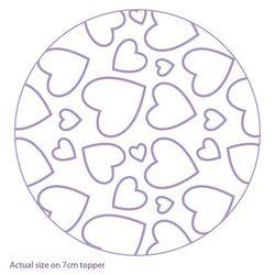 Purple Cupcakes Rolling Pin - Hearts, MOQ 5, £6.50 per unit