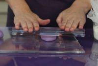 Purple Cupcakes Acrylic Spacers Small 19cm x 3mm x 5mm, MOQ 5, £3.32 per unit