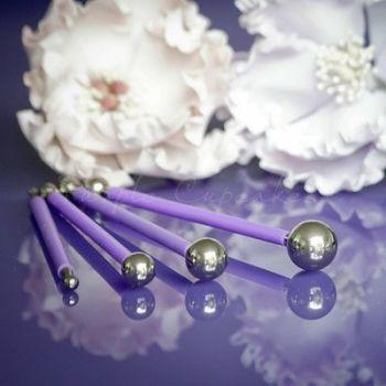 Purple Cupcakes Metal Ball Tools (Set 4), MOQ 5, £6.96 per unit
