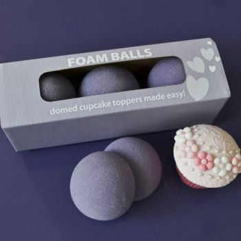 Purple Cupcakes Foam Ball Halves (Set 6), MOQ 5, £2.15 per unit
