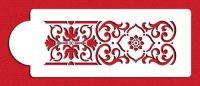 Designer Stencils C005 Victorian Scroll Cake Stencil, Beige/Semi-Transparent