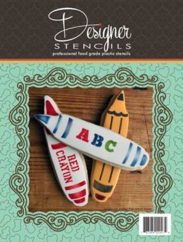 Crayons Tin Cookie Cutter and Stencil Set TS086 by Designer Stencils