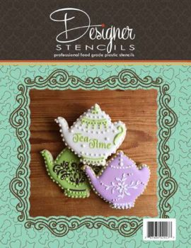 Teapot for Tea Time Tin Cookie Cutter and Stencil Set TS084 by Designer Stencils
