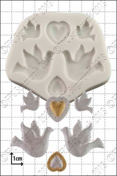 FPC Sugarcraft Doves and Hearts
