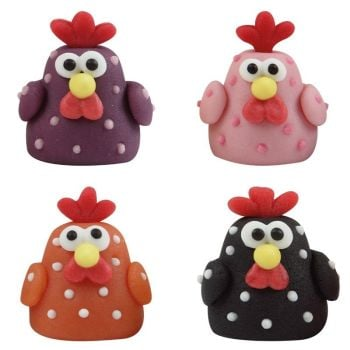 Leman's Chicken with spots 3 x 2,5 cm : 42 Pieces per box