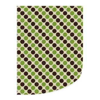 Leman's Transfer green and black dots 35 x 25 cm : 25 Pieces per box