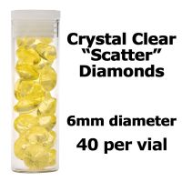 Crystal Candy Edible Isomalt Diamonds: 6mm. Yellow
