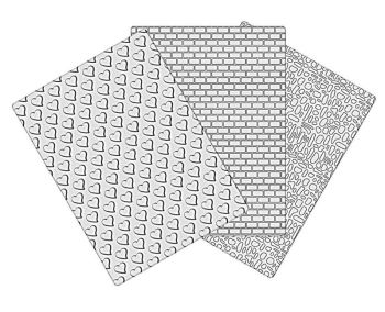 Dekofee Embossing Mat Set 1 (3pcs)