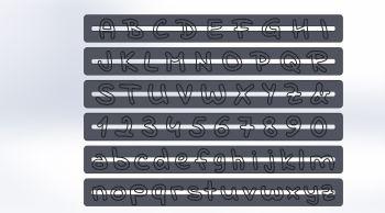 Dekofee Letters- and Numbers Cutter Indie Flower