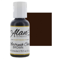 Global Sugar Art Brown Premium Airbrush Food Color, 3/4 Ounce by Chef Alan Tetreault