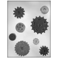 Autumn Carpenter Cutters Gears Chocolate Candy Mold, Minimum order 6 units at £0.81 Per Unit.