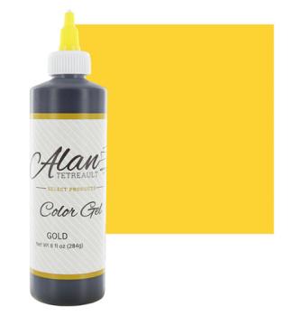 Global Sugar Art  Gold Premium Food Color Gel, 10-1/2 Ounces (8 Fl. Oz) by Chef Alan Tetreault
