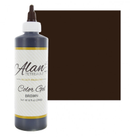 Global Sugar Art  Brown Premium Food Color Gel, 10-1/2 Ounces (8 Fl. Oz) by Chef Alan Tetreault