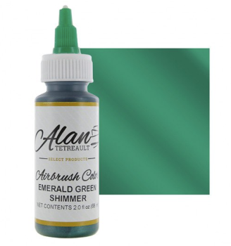 Global Sugar Art Emerald Green Shimmer Premium Airbrush Food Color, 2 Ounces by Chef Alan Tetreault