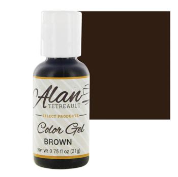 Global Sugar Art  Brown Premium Food Color Gel, 3/4 Ounce by Chef Alan Tetreault