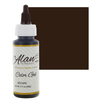 Global Sugar Art  Brown Premium Food Color Gel, 2 Ounces by Chef Alan Tetreault