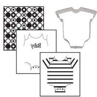 Autumn Carpenter Cutters Baby Onesie Texture Set Minimum order 3 units at £2.82 Per Unit.