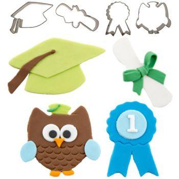 Autumn Carpenter Cutters Graduation Cutie Cutters, Set of 4 Minimum order 4 units at £2.39 Per Unit.