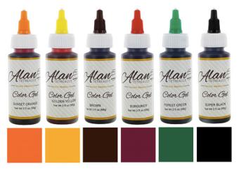 Global Sugar Art  Fall Assortment Premium Food Color Gel Kit, Six Colors 2 Ounces by Chef Alan Tetreault