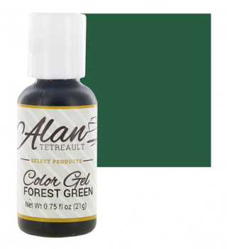 Global Sugar Art  Forest Green Premium Food Color Gel, 3/4 Ounce by Chef Alan Tetreault