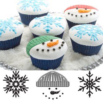 Autumn Carpenter Cutters Cupcake and Cookie Texture Tops - Winter Minimum order 6 units at £1.61 Per Unit.