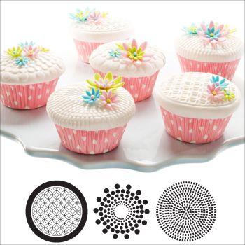 Autumn Carpenter Cutters Cupcake and Cookie Texture Tops - Geometric Minimum order 6 units at £1.61 Per Unit.