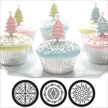 Autumn Carpenter Cutters Cupcake and Cookie Texture Tops - Scroll Minimum order 6 units at £1.61 Per Unit.