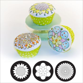 Autumn Carpenter Cutters Cupcake and Cookie Texture Tops - Whimsy Floral Minimum order 6 units at £1.61 Per Unit.