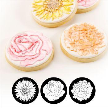 Autumn Carpenter Cutters Cupcake and Cookie Texture Tops - Floral Minimum order 6 units at £1.61 Per Unit.