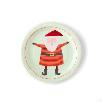 My Mind's Eye Holiday Santa Plate. 3 Units.