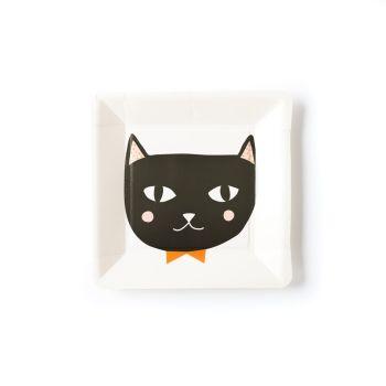 My Mind's Eye Halloween Cat Plate. 3 Units.