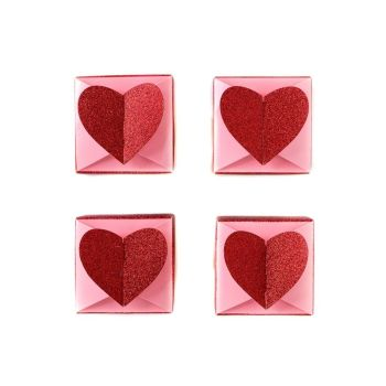 My Mind's Eye Valentine Heart Favor Boxes. 3 Units.