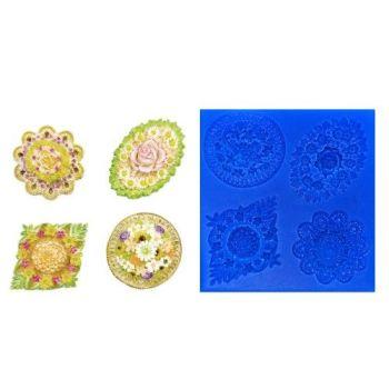 First Impressions Molds Asst'd Flower Medallions 2