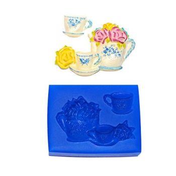 First Impressions Molds Floral Tea Set