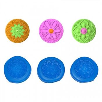 First Impressions Molds Modern Flowers Mini Cupcake Topper Set