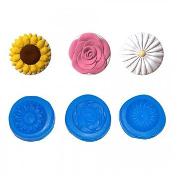 First Impressions Molds Classic Flowers Mini Cupcake Toppers