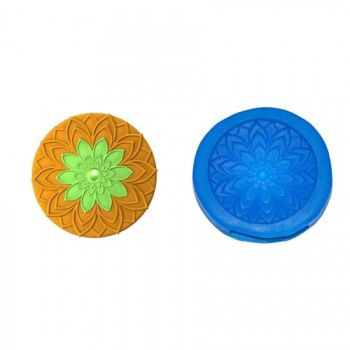 First Impressions Molds Modern Flower 3 Cupcake Topper