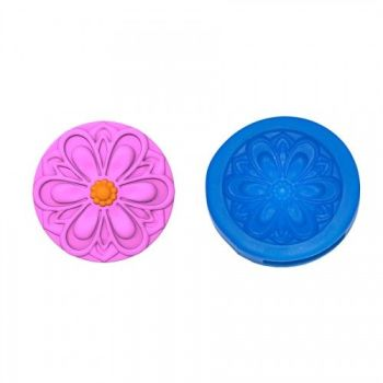 First Impressions Molds Modern Flower 2 Cupcake Topper
