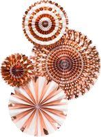 My Mind's Eye Basic Rose Gold Fan Set. 3 Units.