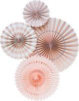 My Mind's Eye Basic Blush Pink Fan . 3 Units.