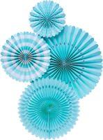 My Mind's Eye Basic Aqua Blue Fan Set. 3 Units.