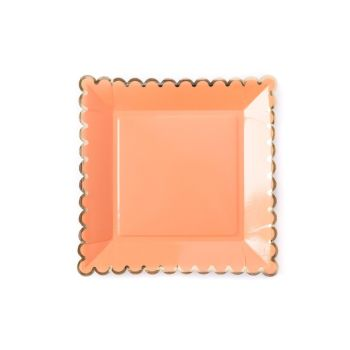 My Mind's Eye Basic Plates - Coral. 3 Units.