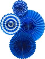 My Mind's Eye Basic Blue Fan Set. 3 Units.
