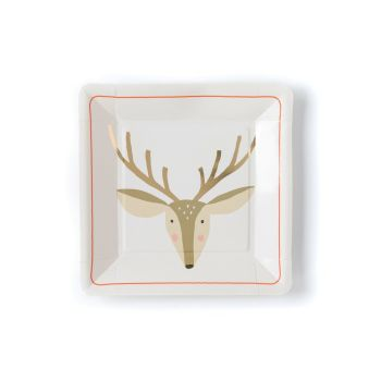 My Mind's Eye Holiday  Deer Plate. 3 Units.