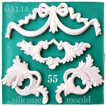 Galia Decor items 2 food-grade Silicon Mould