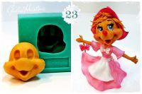 Galia Cinderella Mouse 3 Face food-grade Silicon Mould