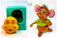 Galia Cinderella Mouse 2 Face food-grade Silicon Mould