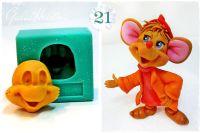 Galia Cinderella Mouse 1 Face food-grade Silicon Mould