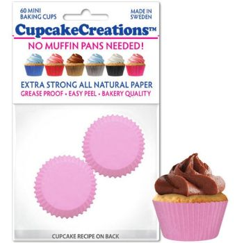 Cupcakes Creations Mini Light Pink: 60 Pieces per unit at £2.08 per unit. 12 units per carton.